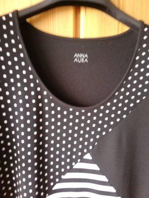 Anna Aura T-shirt blanc-noir