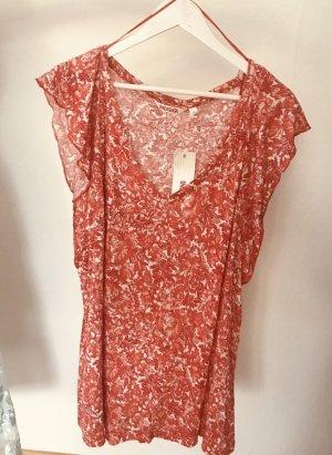 Hochwertiges fließendes Shirt mit floralem Print