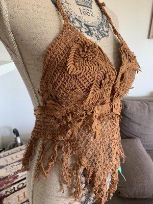 Antica Sartoria Haut en crochet multicolore