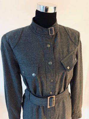 Belstaff Vestido de lana gris antracita