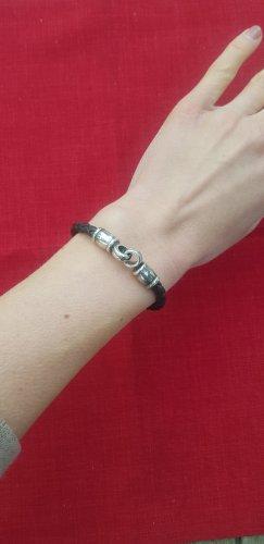 Bracelet en cuir brun foncé