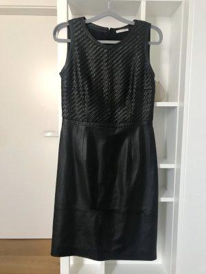 Paule ka Vestido de cuero negro Cuero