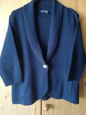 hochwertiges marineblaues Twinset aus Supima-Baumwolle von Peter Hahn