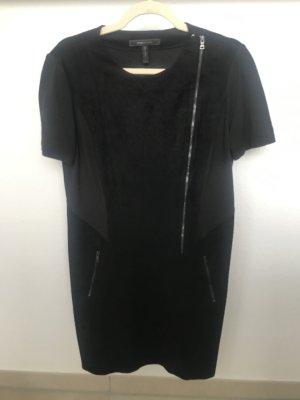 BCBG Maxazria Vestito in pelle nero Pelle