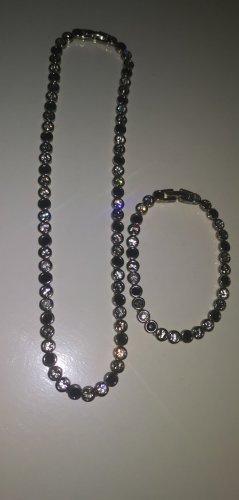Catena d'argento nero-argento