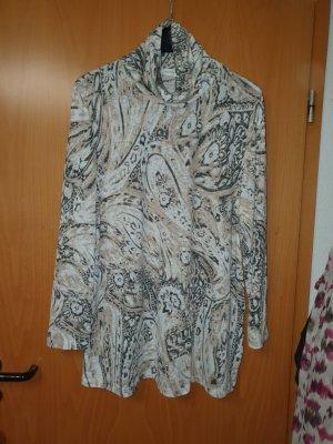 Atelier Goldener Schnitt Koszulka z golfem piaskowy brąz-jasnobeżowy