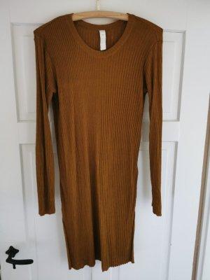 Ischiko Knitted Dress cognac-coloured
