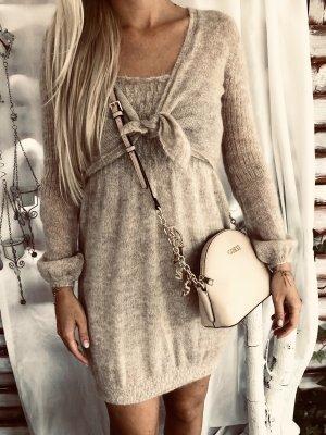 Ayfee Robe en laine beige clair-crème laine