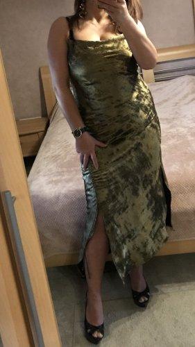 Hochwertiges Zara Metallic Kleid Abendkleid M