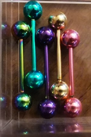 hochwertiges Zungenpiercing Piercing Zunge neu ovp Metallic