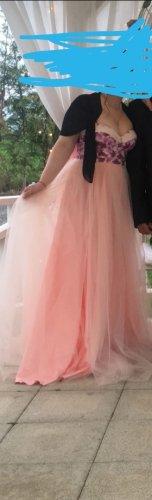 Bid Handmade Sukienka typu babydoll w kolorze różowego złota-różany