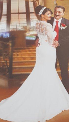 A-Z Suknia ślubna w kolorze białej wełny