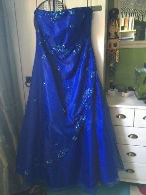 Suknia balowa niebieski Poliester