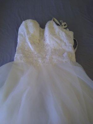 AnnAngelex Sukienka z gorsetem biały