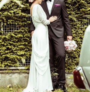 Apart  glamour Wedding Dress white