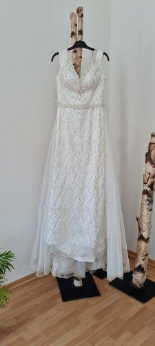 Shecca Robe de bal blanc-argenté