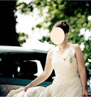 Vestido de novia beige claro Seda