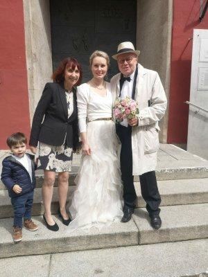 Kaviar Gauche Wedding Dress white silk
