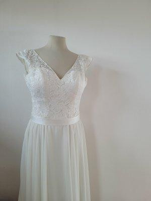 Lohrengel Vestido de novia multicolor tejido mezclado