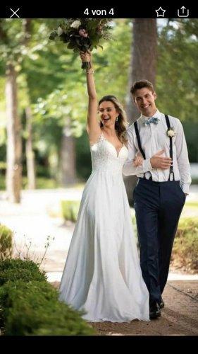 Stella York Vestido de novia blanco