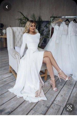 Light In The Box Wedding Dress white-rose-gold-coloured