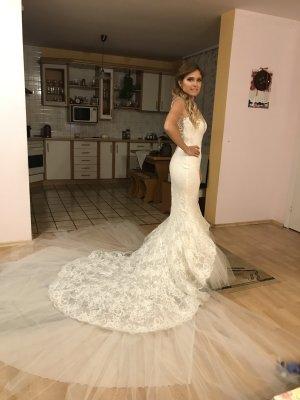 Pronovias Dress white-silver-colored
