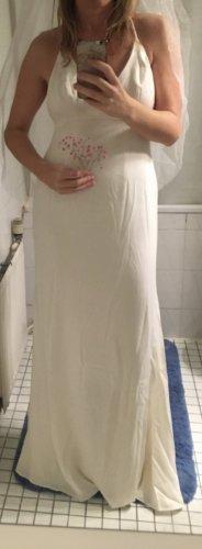 Vera Wang Robe de soirée beige clair-blanc