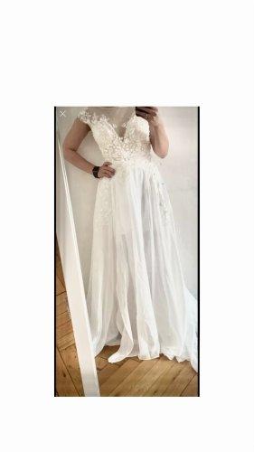 Vestido de novia blanco Gasa