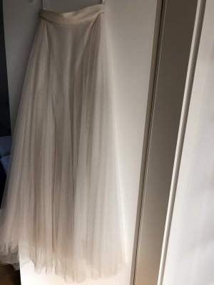 Vestido de novia crema-blanco