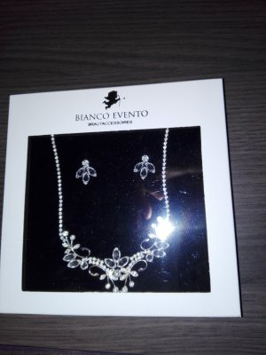 Bianco Necklace silver-colored real silver