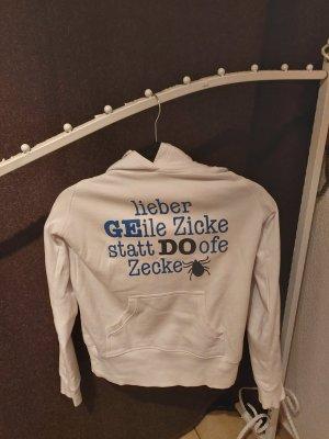 spread shirt Sweatshirt met capuchon wit