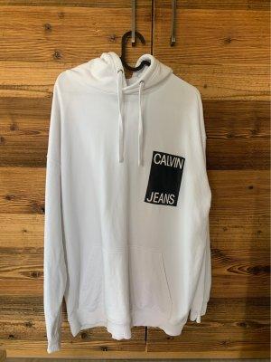 Calvin Klein Sweter z kapturem biały