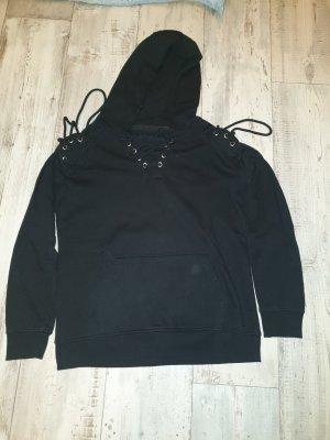 EMP Sweter z kapturem czarny