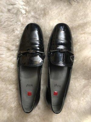 Högl Business Loafer Gr. 3 1/2, schwarzes Lackleder, Gr. 36,5