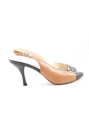 Högl High Heel Sandaletten braun-schwarz Casual-Look