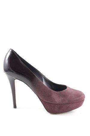Högl High Heels schwarz-rot Farbverlauf Elegant