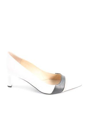 Högl High Heels weiß-schwarz Casual-Look