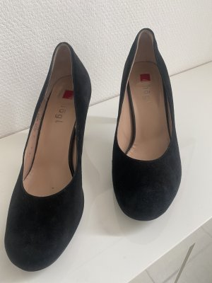 Högl hohe Schuhe Pumps schwarz Größe 37