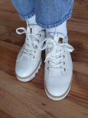 Högl Sneaker stringata bianco-oro