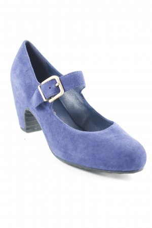 Högl Mary Jane Pumps blau schlichter Stil