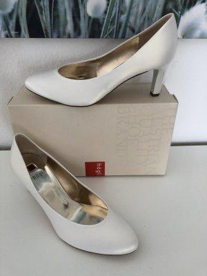 Högl Pumps Braut Schuhe 38,5 perlweiss statt 100 eur