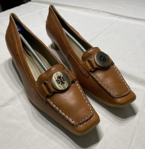 Högl Loafers cognac-coloured-russet leather