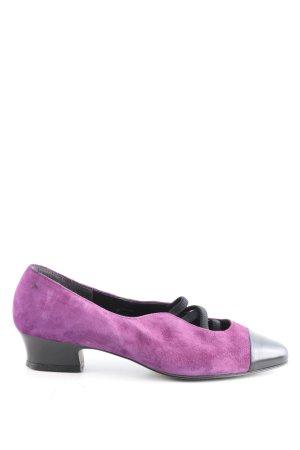 Högl Strappy Ballerinas lilac-black casual look