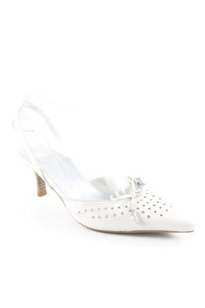 Högl Riemchen-Sandalen wollweiß klassischer Stil