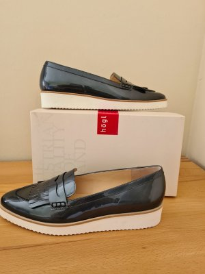 Högl Zapatos formales sin cordones gris antracita-crema Cuero