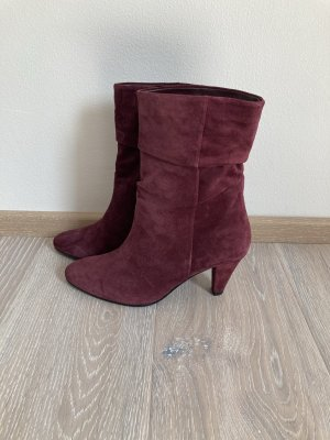 Högl Stiefelette Stiefel Boot rot weinrot bordeaux Leder Gr. 38