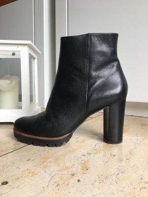 Högl Platform Booties black leather