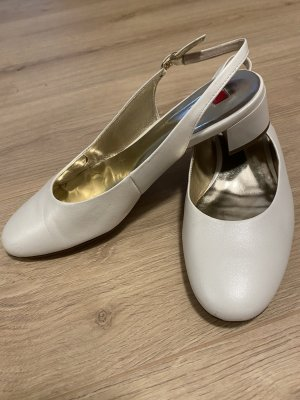 Högl weiß Leder Slingback Schuhe Gr.5 (38)