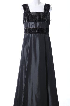 Höpfner Abendkleid schwarz Glanz-Optik