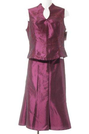 Höpfner Kostüm purpur Blumenmuster Casual-Look